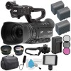 JVC GY-HM180 Ultra HD 4K Camcorder |BNV-F823 Battery | AC/DC Charger | 62mm Wide Angle Lens | 62mm Filter | JVC QAN0067-003 Microphone Bundle