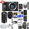 Sony Alpha A6500 4K Wi-Fi Digital Camera Body with 10-18mm f/4.0 & 55-210mm Lenses Deluxe Kit