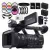 Sony HXR-NX5R NXCAM Professional Camcorder 12PC Accessory Bundle - Includes Includes 2x 64GB SD Memory Cards + 2 Replacement Batteries + MORE