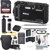 Nikon COOLPIX W300 Digital Camera (Black) W/ Deluxe Adventure Bundle with 32GB + Case + Floating Grip +Battery + Cleaning Kit + More