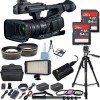 "Canon XF705 4K 1"" Sensor XF-HEVC H.265 Pro Camcorder NTSC/PAL  with 128GB Essential Bundle"