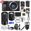 Sony Alpha a6500 4K Wi-Fi Digital Camera Body with 16-70mm f/4 & 55-210mm Lenses Deluxe Bundle