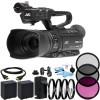 JVC GY-HM250 UHD 4K Streaming Camcorder with Built-in Lower-Thirds Graphics with Additional Accessories