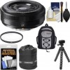 Fujifilm 27mm f/2.8 XF Lens with Backpack + Pouch + Tripod + Filter + Kit for X-A2, X-E1, X-E2, X-M1, X-T1, X-Pro1 Cameras