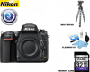 Nikon D750 DSLR Camera (Body Only) USA Starter Kit