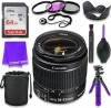 Canon EF-S 18-55mm f/3.5-5.6 Is II Lens (White Box) & 64GB Class 10 Memory Card + Complete Accessory