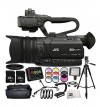 JVC GY-HM170 4KCAM Compact Professional Camcorder 15PC Accessory Bundle