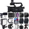 Canon XA55 Professional UHD 4K Camcorder with Microphone Essential Bundle USA