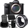 Sony Alpha a7R II Mirrorless Digital Camera (Body) with Sigma MC-11 Mount Converter/Lens Adapter (Sigma EF-Mount Lenses to Sony E) 7pc Accessory Kit.