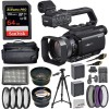 Sony HXR-MC88 14.2 MP Camcorder with .43x Wide Angle Lens, 2.2X Telephoto Lens, SanDisk Extreme Pro 64GB Memory Card, 3pc Filters, and More