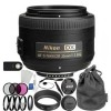 Nikon AF-S DX NIKKOR 35mm f/1.8G Lens Accessory Bundle