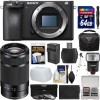 Sony Alpha a6500 4K Wi-Fi Camera Body   55-210mm Lens   64GB Card   Case   Flash   Battery   Charger   Tripod   Filters   KIT
