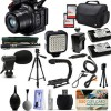 Canon XC15 4K Professional Camcorder with 2X Sandisk 64GBs | Tripod | Monopod | 2x Extra Batteries | $50 Gift Card Bundle