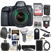 Canon EOS 6D Mark II Wi-Fi Digital & EF 24-105mm IS STM Lens with 128GB Card + Backpack + Flash + Diffuser + Battery & Charger + Filters + Kit