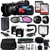 Canon XA10 HD Professional Camcorder | 128GB | Filters | 2X Extra Batteries | LED Light | Case | Microphone Bundle