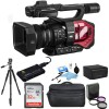 Panasonic AG-DVX200 4K Handheld Camcorder with Four Thirds Sensor and Integrated Zoom Lens + Basic Accessory Kit