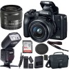 Canon EOS M50 Mirrorless Digital Camera with 15-45mm Lens (Black) with Professional Flash Bundle