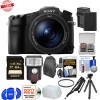 Sony Cyber-Shot DSC-RX10 III 4K Wi-Fi Digital Camera with 64GB Card|Battery & Charger|Backpack|Tripod|Flash Kit