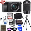 Sony Alpha A6300 Mirrorless Digital Camera Body with 16-50mm E-Mount & Sony 55-210mm f/4.5-6.3 OSS Essential Bundle