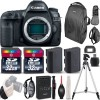Canon EOS 5D Mark IV DSLR Camera (Body Only) with  EXT Bat + Tripod - 64GB Deluxe Kit