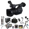 Canon XF200 HD Professional Camcorder Directors Kit Tripod Dolly LED Light + FULL SIZE TRIPOD