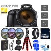 Nikon Coolpix P1000 16MP 125x Super-Zoom Digital Camera + 16GB & Additional Accessories Bundle Package