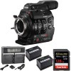 Canon Cinema EOS C300 Mark II Camcorder Body (PL Lens Mount) with Sandisk Extreme Pro 128GB Starter Package
