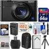 Sony Cyber-shot DSC-RX100 V 4K Wi-Fi Digital Camera with 64GB Card + Case + Battery & Charger + Flex Tripod + Kit, Black