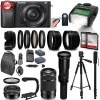 Sony Alpha A6300 Mirrorless Black Digital Camera with 16-50mm, 55-210mm & 500mm Preset Lens Supreme Bundle