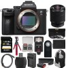 Sony Alpha a7 III K Wi-Fi Digital Camera Body with FE 28-70mm Lens + 64GB Card + Backpack + Flash + Battery & Charger + Tripod + Kit