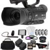 JVC GY-HM180 12.4MP 4K Ultra HD Camcorder with 2X 64GB Memory Cards Deluxe Bundle