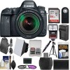 Canon EOS 6D Mark II Wi-Fi Digital SLR Camera & EF 24-105mm IS STM Lens with 64GB Card+Backpack+Flash+Soft Box+Battery&Charger+Tripod+Filters+Kit