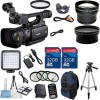 Canon XF100 Professional Camcorder w/ 2 PC 32GB High Speed Memory Cards & Accessory Bundle