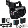 Sony PXW-FS7 XDCAM Super 35 Camera System + 2 Replacement BP-U90 8200mAh Battery Pack + 36 LED Video Light + Microfiber,