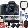 Canon EOS Rebel SL2 DSLR Camera with 18-55mm Lens (Black) with 64GB Dual Battery & Mic Pro Video Bundle