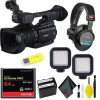 Canon XF205E HD Camcorder (PAL) w/ Essential Bundle