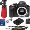 Nikon D3300 Digital SLR 24.2 Megapixels Body Only w Additional Accessories