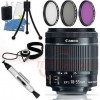 Canon EF-S 18-55mm f/3.5-5.6 STM Lens + 58mm Accessory Bundle