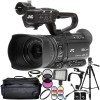 JVC GY-HM250 UHD 4K Streaming Camcorder with Built-in Lower-Thirds Graphics Accessory Bundle