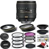 Nikon AF-S DX NIKKOR 16-80mm f/2.8-4E ED VR Lens with 72mm Wide Angle / Telephoto Lens | Filters & More Bundle