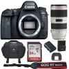 Canon Eos 6D Mark II 26.2MP Full-Frame DSLR Camera with 70-200mm f/2.8L IS II USM Lens Bundle