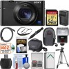 Sony Cyber-Shot DSC-RX100 V 4K Wi-Fi Digital Camera with 64GB Card + Case + Flash + Battery & Charger + Tripod + Strap + Kit