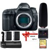 Canon EOS 5D Mark IV DSLR Camera + Tascam DR-10SG Audio Recorder & Microphone Kit