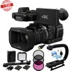 Panasonic HC-X1000 4K-60p/50p Camcorder with High-Powered 20x Optical Zoom and Professional Functions (Black) + 3 Piece Filter Kit (Uv+cpl+fld)