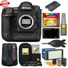 Nikon D5 Digital SLR Camera Body (Dual CF Slots) with 128GB CF MC| Video Light Set Bundle Kit