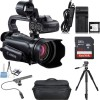 Canon XA10 Compact Full HD Camcorder with Azden SGM-PDII Microphone Bundle