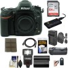 Nikon D600 DSLR Camera (Body Only) with 64GB Card | Sling Case | Flash | Grip| Battery & Charger + Remote Kit