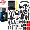 GoPro HERO6 Black 12 MP Waterproof Camera Accessories Kit w/ Carrying Case & More