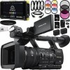 Sony HXR-NX5R NXCAM Professional Camcorder 13pc Accessory Bundle - Includes Atomos Shogun Flame + Includes 2x 64GB SD Memory Cards + 2 Replacement