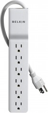 Belkin 6-Outlet Home/Office Power Strip Surge Protector (4 Feet)